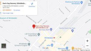 Dees Day Wimbledon Nursery Map